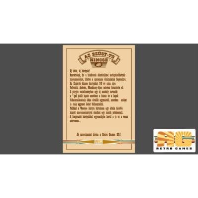 Az Ezüst-tó kincse kiegészítő kártyacsomagjának szabálykártyája