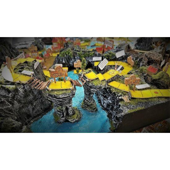Az Ezüst-tó kincse társasjáték 3D-s terepasztalon