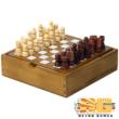 Klasszikus fa Sakk - fa játékelemekkel